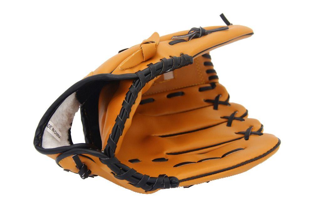 Deportes al aire libre marrón pu guante de Béisbol Softbol práctica equipo tamaño 10.5/11.5/12.5 mano izquierda para el hombre adulto entrenamiento de la mujer