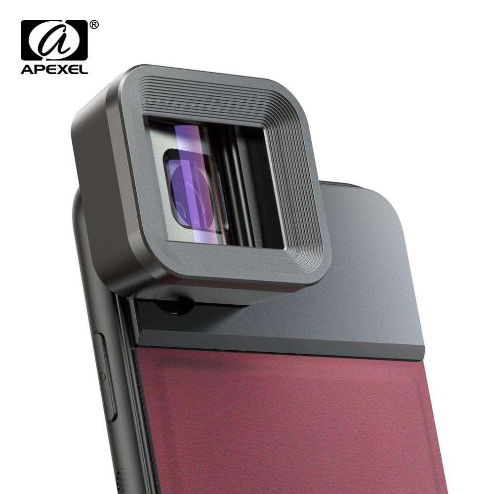 APEXEL HD Anamorph Objektiv 1.33x WideScreen Video Film Handy kamera Objektiv lente für Vlog iPhone Huawei Samsung smartphones