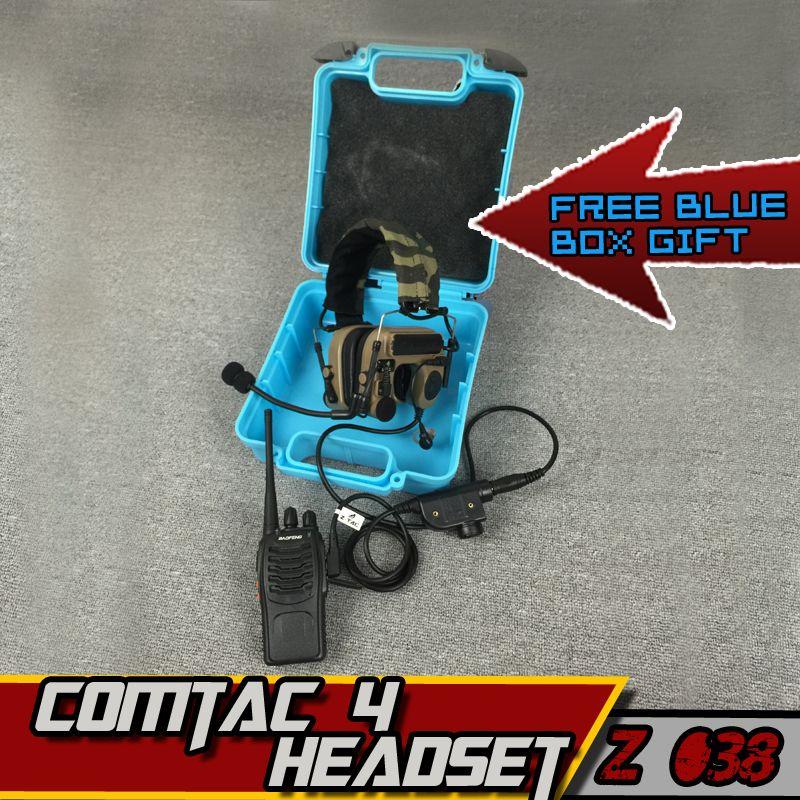Z TAC Tatical Military Headset For Hunting Z-Tactical Comtac IV Arsoft Peltor Earphone Hunting Z-TAC PTT kenwood With Radio Set
