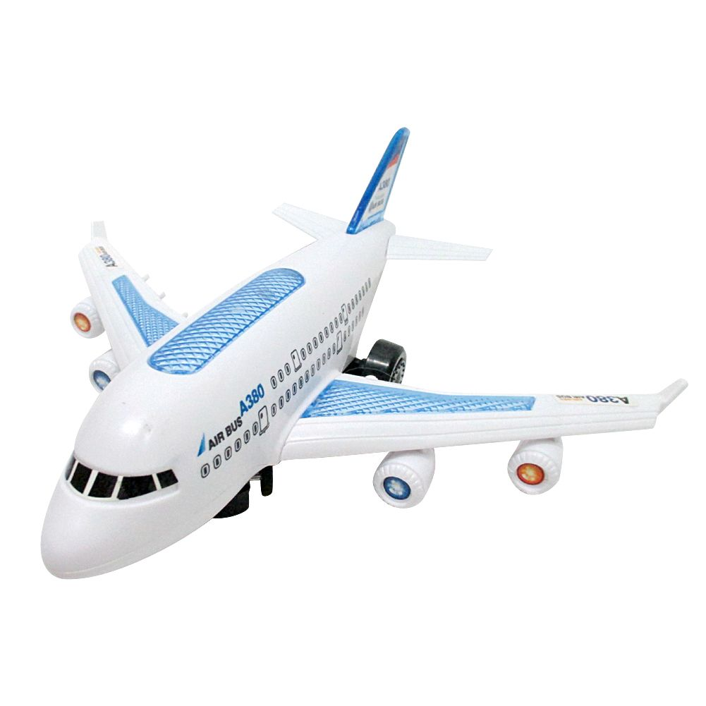 Electric Airplane Model Flashing LED Light Musical Electric Air Bus Toy Gift