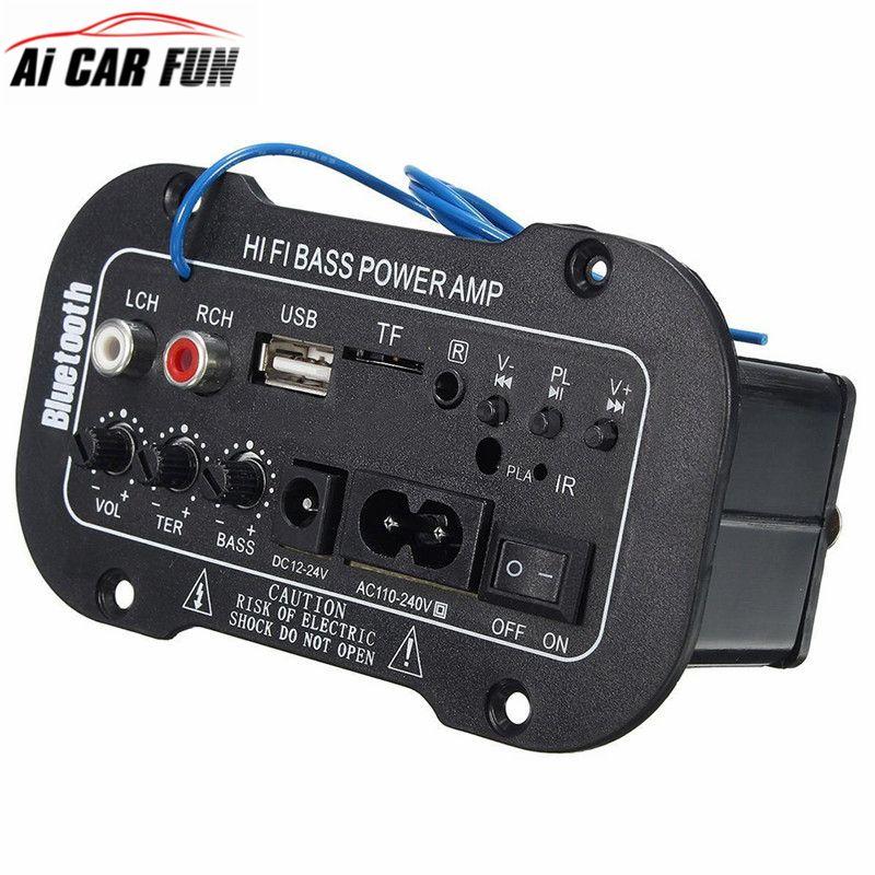 5-Inch Multi-Functional Card Digital Bluetooth Home Car Amplifier Car Bluetooth HiFi Bass Power AMP