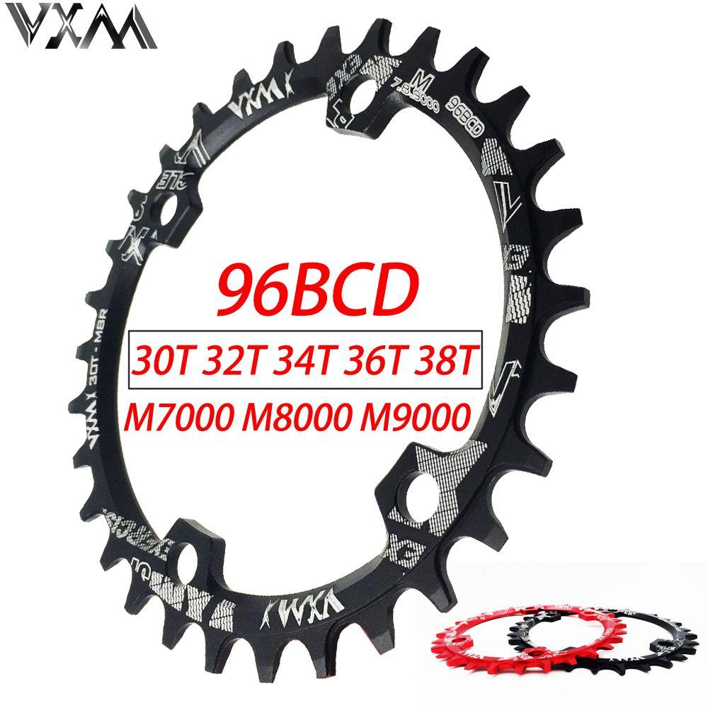 VXM 30T 32T 34T 36T 38T 96BCD plateau rond ovale en alliage d'aluminium plateau de vélo de route pour M7000 M8000 M9000