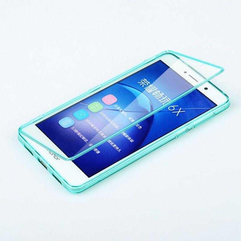Huawei Honor 6X Cas Silicone Flip Haute Qualité 100% Transparent matériau TPU de Couverture Arrière Ultra Mince Honneur 6X Téléphone Sac cas