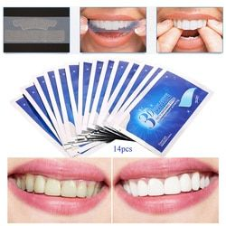 14pcs/box 3D White Gel Teeth Whitening Strips Tooth Dental kit Oral Hygiene Care Strip for false Teeth Veneers Dentist seks Tool