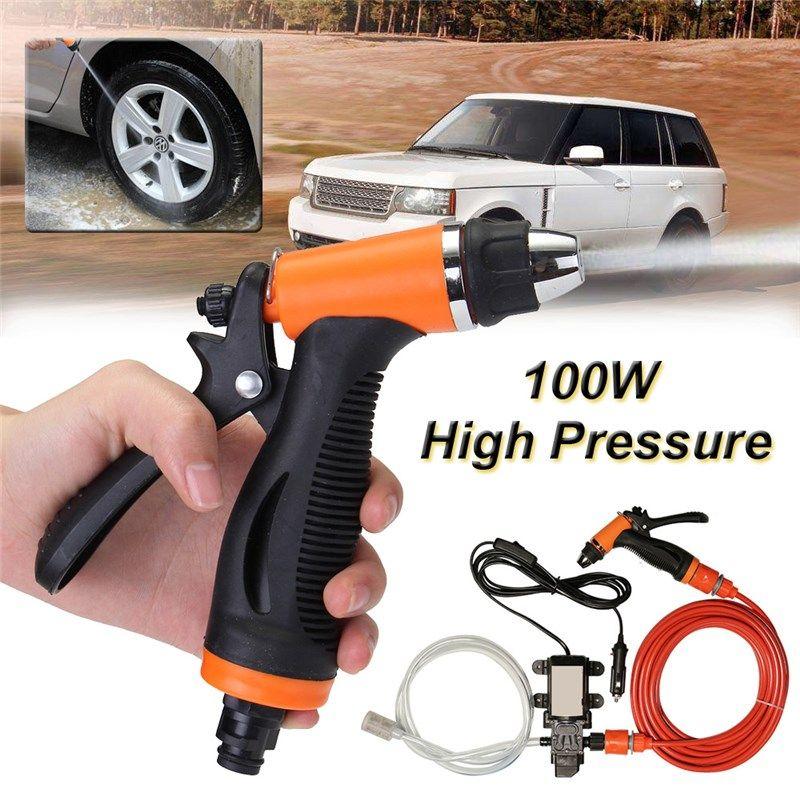 6Pcs Car <font><b>100W</b></font> 12V Portable High Pressure Washer Pump 6L/min Car Moto