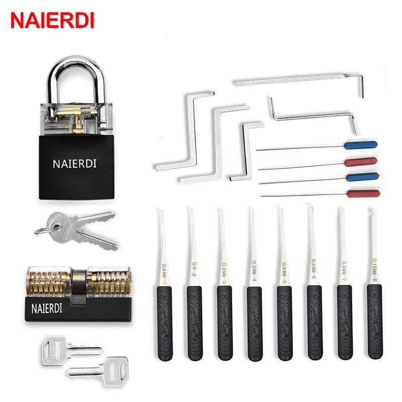 NAIERDI serrurier fournitures clé de Tension outil pratique serrure Pick Set combinaison cadenas clé cassée outils à main matériel