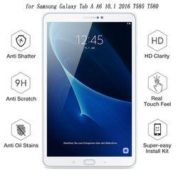 9 H para SM-T580 Protector de pantalla para Samsung Galaxy Tab A A6 10,1 2016 T585 T580 protectora película de vidrio