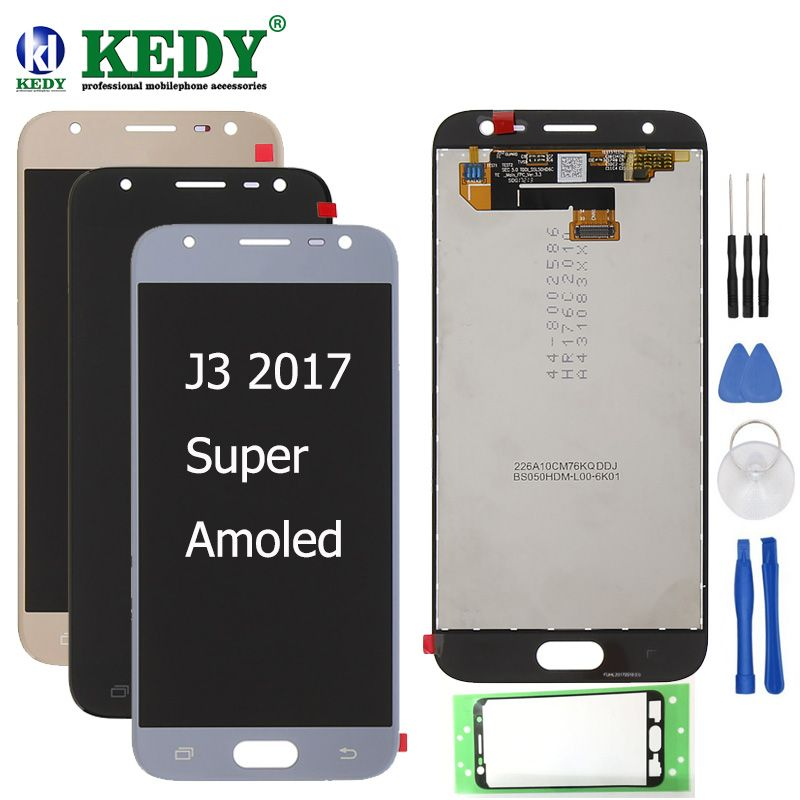 100% Super AMOLED LCDS For Samsung Galaxy J3 2017 J330 LCD Display Touch Screen Digitizer Assembly free shipping