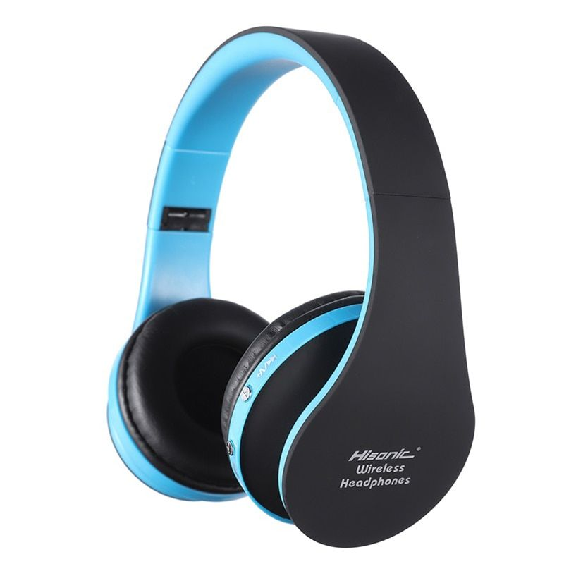 Hisonic Wireless Bluetooth Headphones <font><b>Noise</b></font> Cancelling Bluetooth Headset V4.1 Foldable with Microphone USB Gaming Headphone