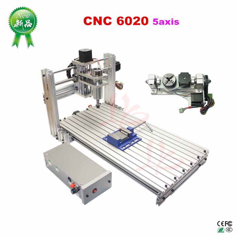 DIY mini 6020 metal CNC wood Router ER11 CNC Engraving machine USB port 60x20cm