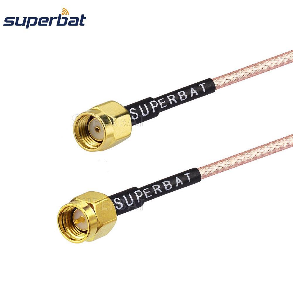 Superbat SMA Male TO RP-SMA Plug Straight Connector LOW LOSS COAX RF Cable RG316 150cm Wi-Fi Radios Wireless