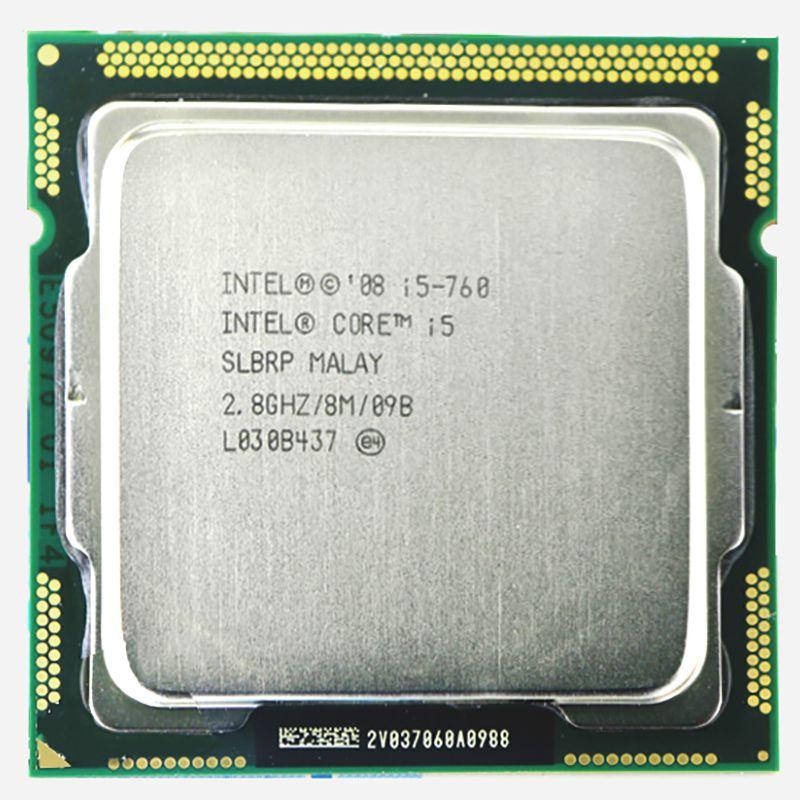 Процессор Intel Original Core 2 i5-760 Процессор I5 760 процессор (2.8 ГГц/8 МБ Кэш/разъем LGA1156/ 45nm) desktop I5 760 Процессор гарантия 1 год
