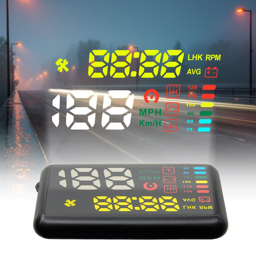 Free shipping ATDIAG X7 Universal Car HUD Head Up Display KM/h MPH Overspeed Alarm Windshield Project Vehicle Speedometer