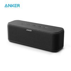 Anker Sound Core Meningkatkan 20W Bluetooth Speaker dengan Bassup Teknologi 12 H Waktu Bermain IPX5 Tahan Air 66ft Rentang Bluetooth