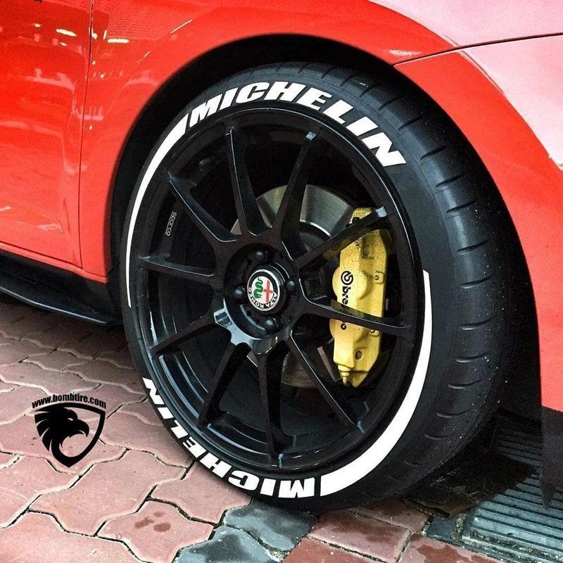 Voiture tuning universel 3D logo pneu roue autocollant Auto moto style personnalisé drôle sport décoration autocollants