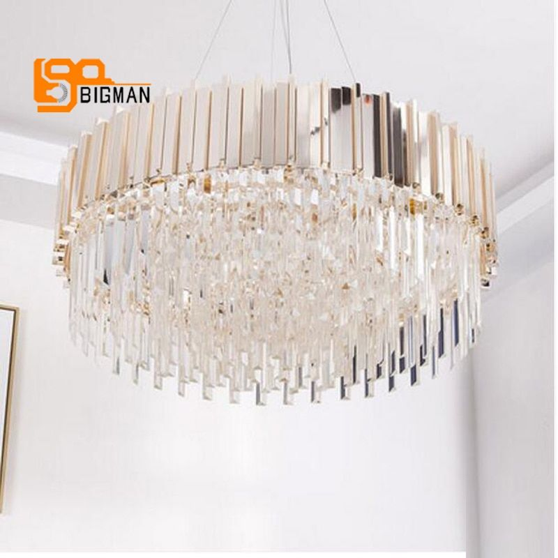new arrival luxury crystal chandelier modern lighting gold dinning room living room LED light fixtures