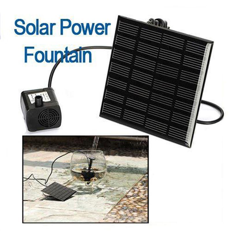 Solar Power Fountain Water Pump Panel Kit <font><b>Pool</b></font> Garden Fish Pond Waterpump aquarium brushless pump Water Pumps Solar Fountain