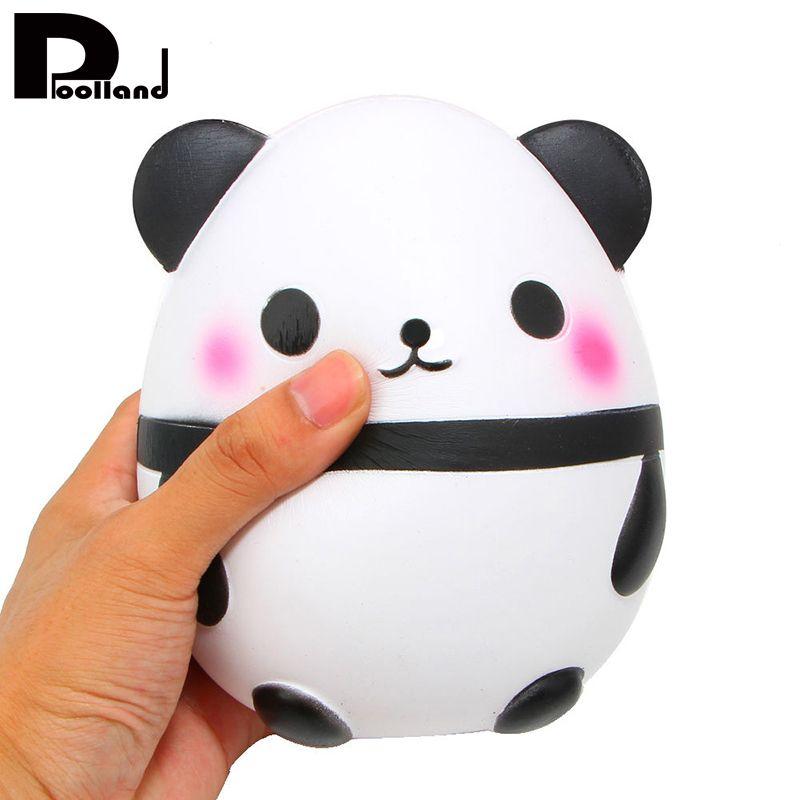Jumbo 14CM Panda Egg Squishy Phone Straps DIY Decor Slow Rising Kawaii Animal Kids Doll Collectibles Toys Soft Squeeze Fun Gift