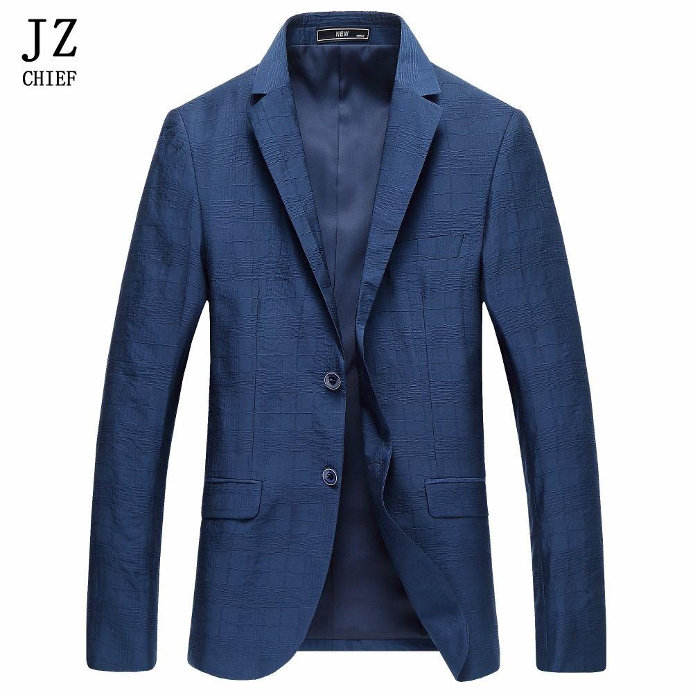 JZ CHEF Jacken Männer Jacke Frühling Und Herbst Mode Elegant Slim Fit Mann Jacke Polyester Stoff Linie Blazer Anzug Mantel Outwear