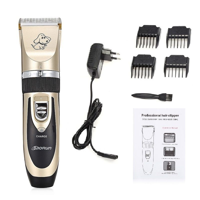 New BaoRun P2 Professional Pet Electric Hair Clipper Dog Cat Grooming Clippers Rechargeable 110-240V Dog Hair Trimmer Cutters