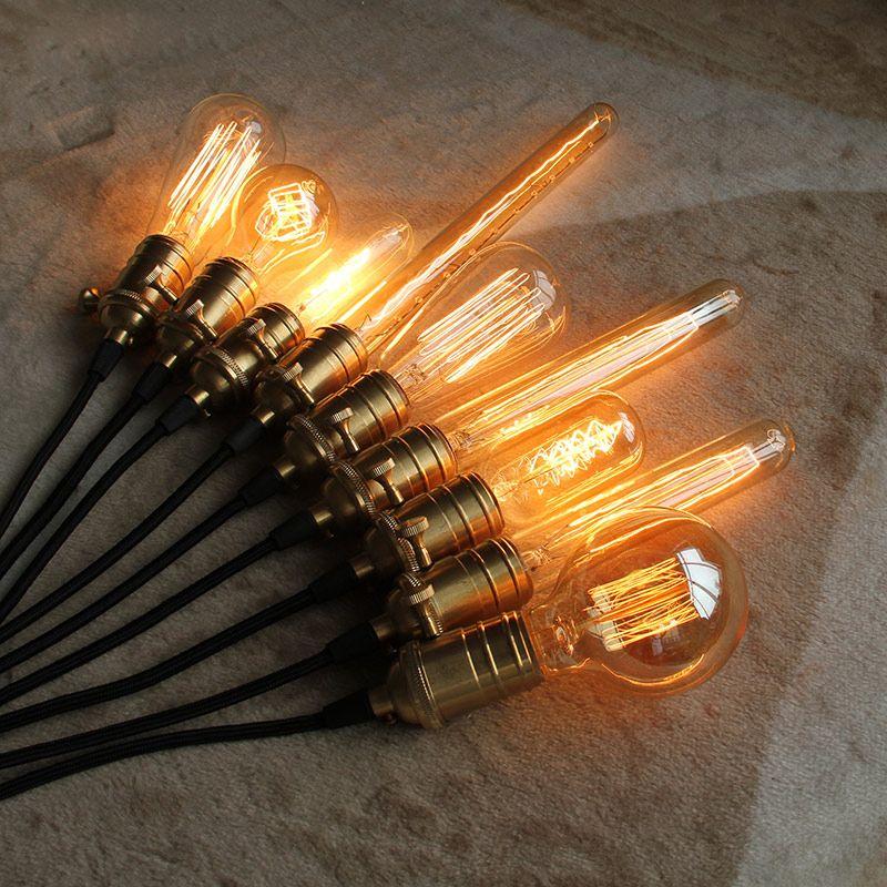 Loft Edison Vintage Bombillas ST64/G95/G80 E26/E27 Incandiscent Bombillas 40 W 110 V 220 V Bombilla de Filamento Edison Lámparas Colgantes