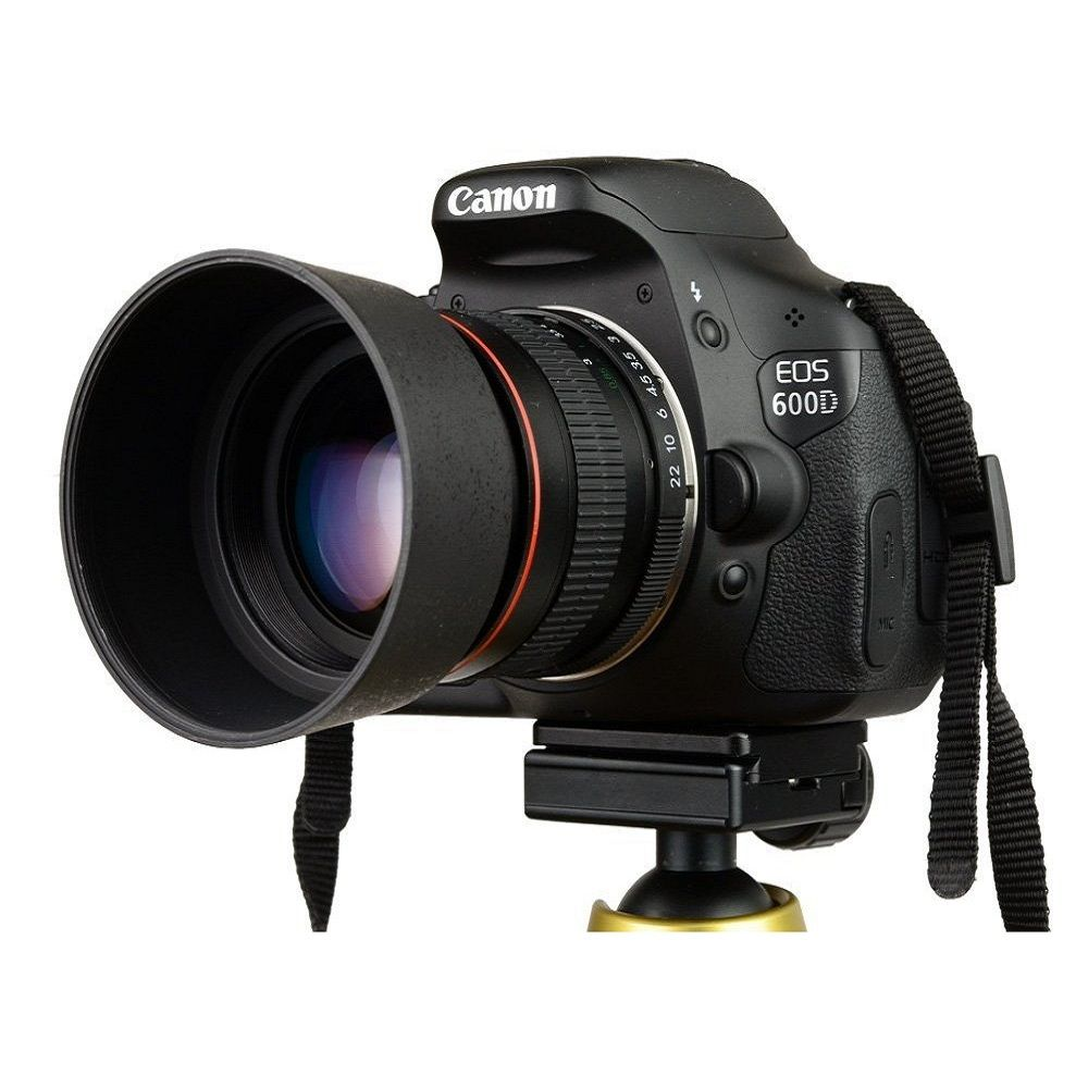 Lightdow 85mm F1.8-F22 Manual Focus Portrait Lens Camera Lens for Canon EOS 550D 600D 700D 5D 6D 7D 60D DSLR Cameras