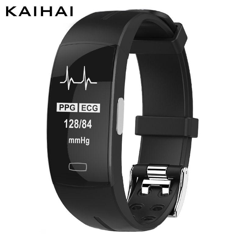 KAIHAI H66 blood pressure band heart rate monitor PPG ECG smart bracelet Activit fitness tracker Watch <font><b>intelligent</b></font> wristband