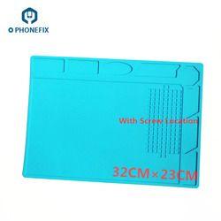 Phonefix 32*23 Cm Mobile Phone Anti Statis Mat Kerja Suhu Tinggi Pad Perbaikan Platform untuk iPhone iPad samsung Xiaomi