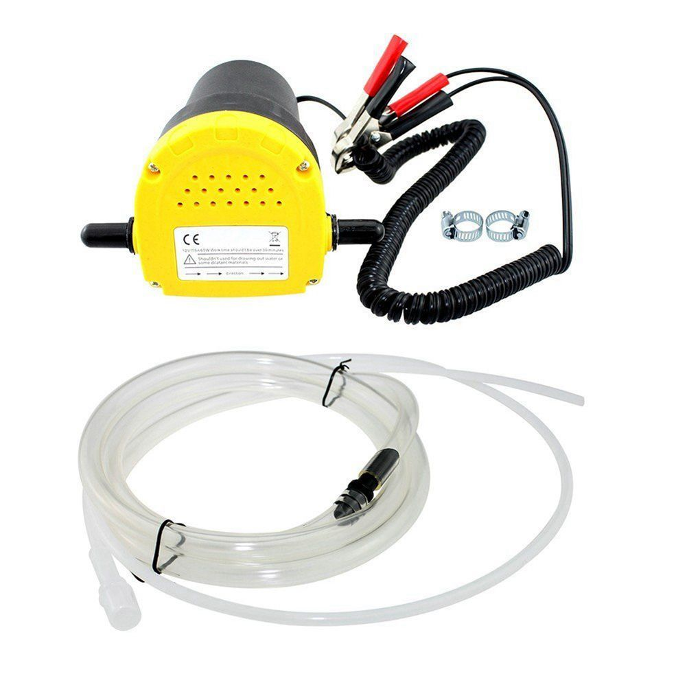 12V 60W Oil/crude oil Fluid Sump <font><b>Extractor</b></font> Scavenge Exchange Transfer Pump Suction Transfer Pump + Tubes for Auto Car Boat Mot