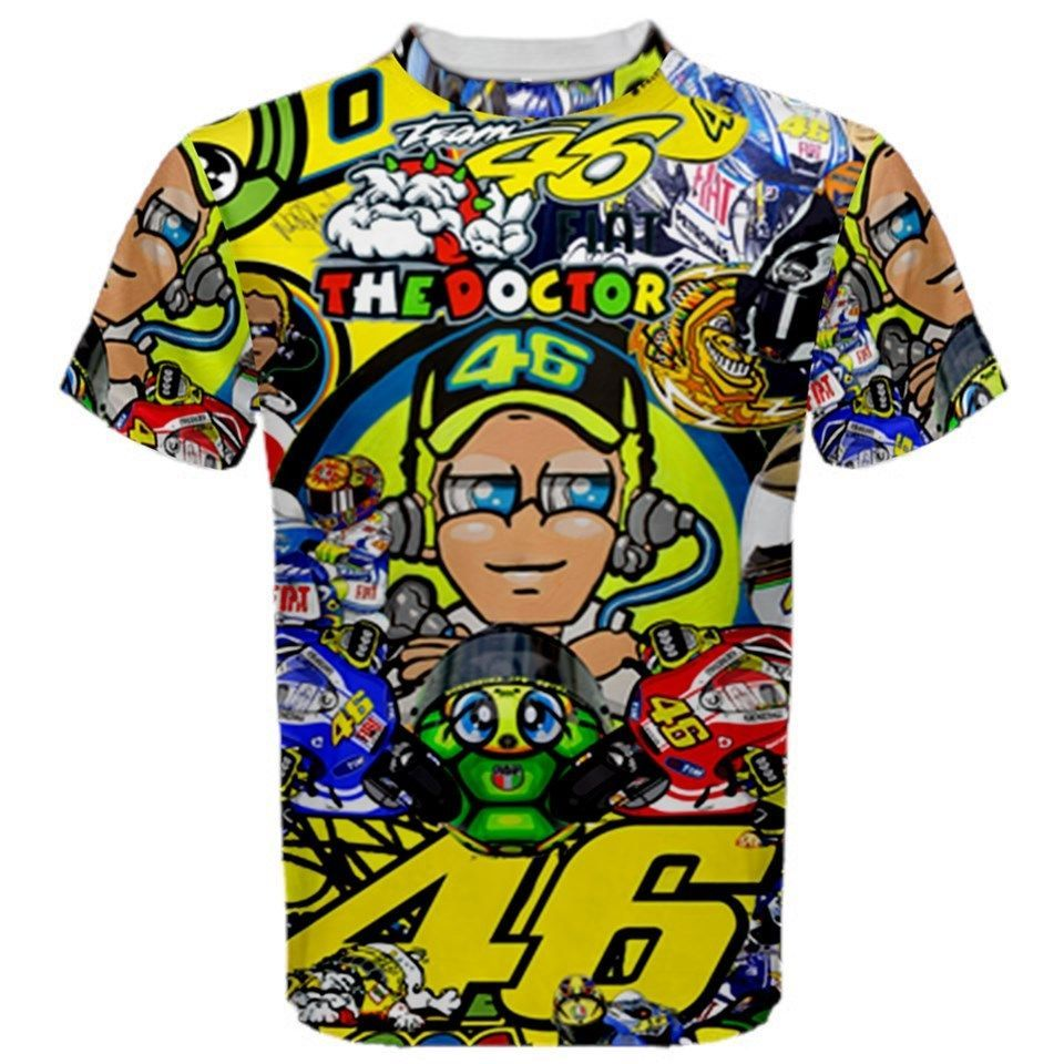 Free shipping 2016 MOTOGP T-shirt Luna Rossi VR 46 The Doctor Motorcycle Sport racing jersey