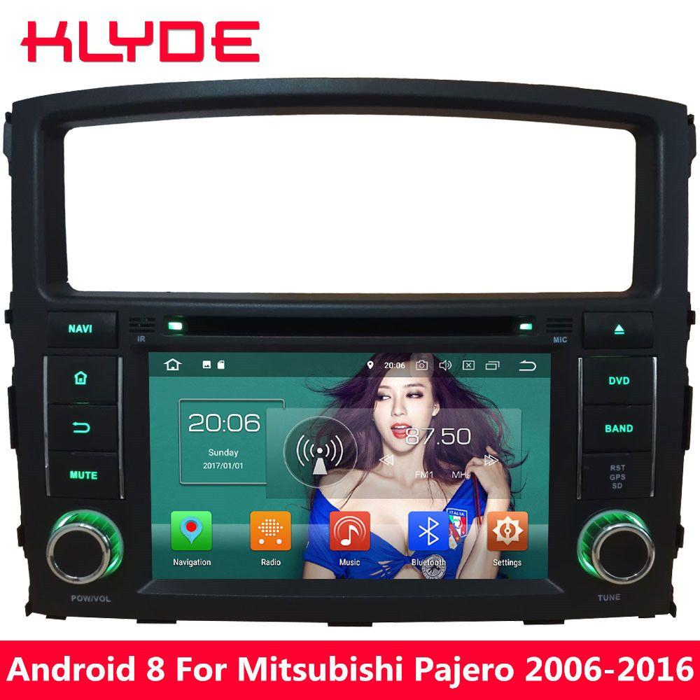 KLYDE 7'' Octa Core 4GB RAM Android 8.0 32GB ROM PX5 4G Car DVD Multimedia Player Radio For Mitsubishi Pajero V97 V93 2006-2016