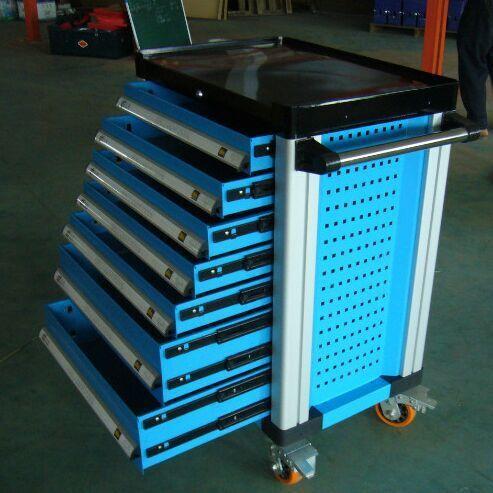Automative Storage Tool Box Mobile Werkzeug Trolley Metall Toolbox 7 Schubladen Mit 255 einheiten Werkzeuge