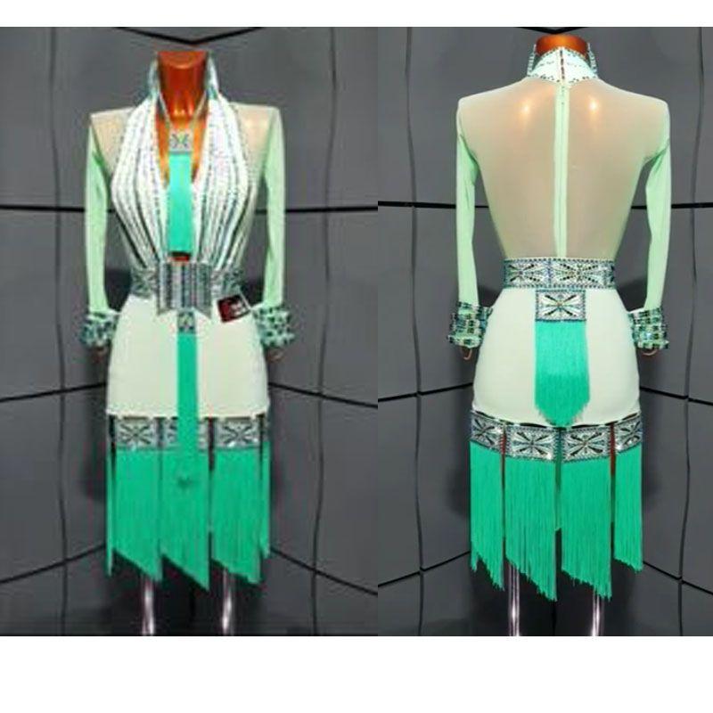 Laint dance kleid latin tragen Jive Chacha Latin Dance Kleid, ballsaal tanzen kleid