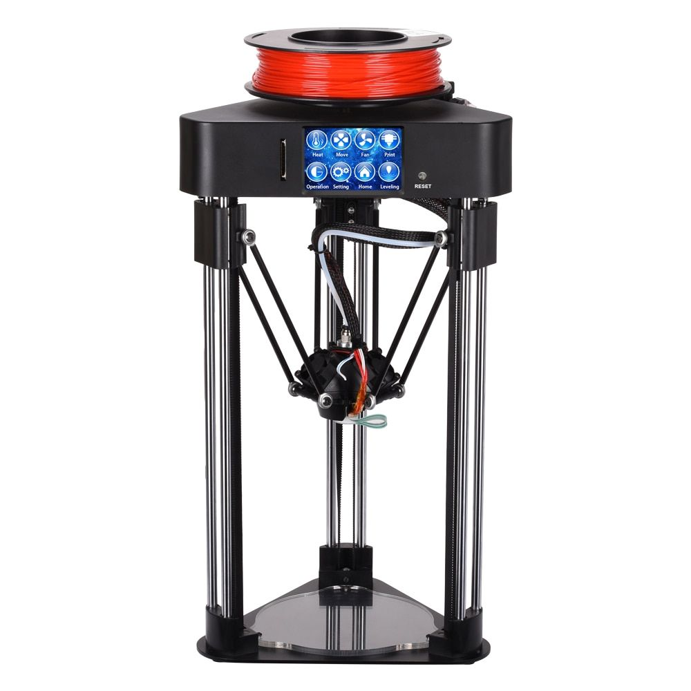 BIQU Magician 3D Printer High precision Mini kossel delta printer Fully Assembly 2.8 inch Touch Screen with Titan Extruder