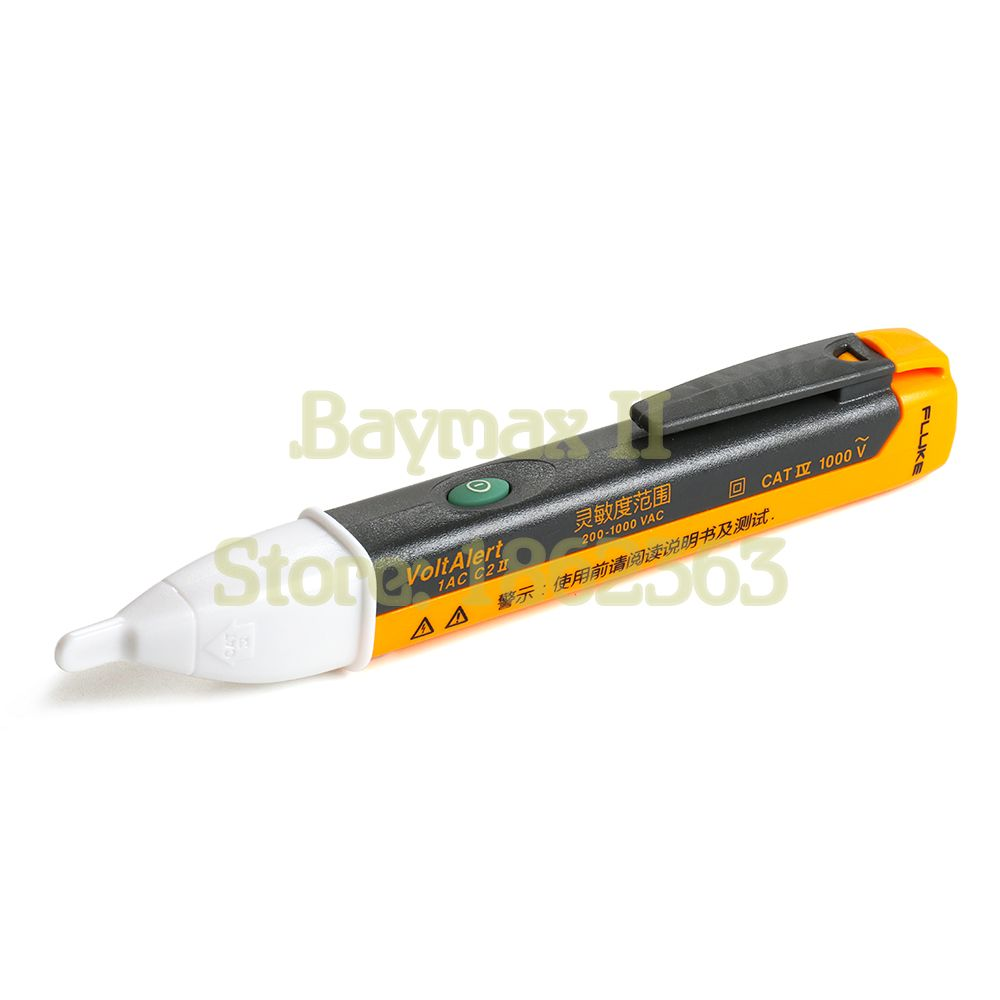 Fluke VoltAlert F1AC C2 II Non-Contact AC Voltage Tester from 200~1000V with Audible and Light Alarm