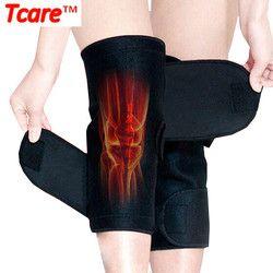1 пара tcare турмалин самонагревающееся Kneepad Магнитная Терапия Колено Поддержка Турмалин наколенника пояса до колен массажер