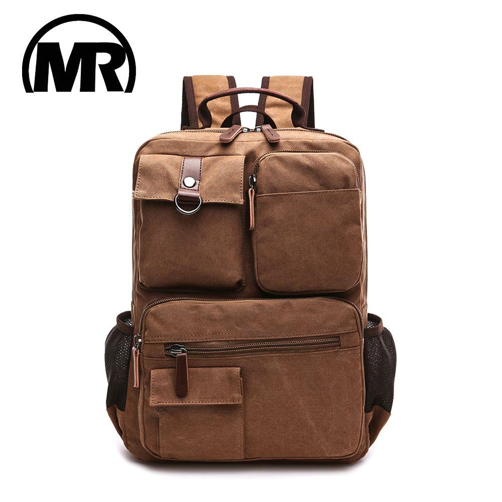 MARKROYAL nouveaux hommes toile sac à dos sac à bandoulière étudiants loisirs sac ordinateur sac école Mochila adolescents 15 pouces ordinateur portable sac à dos