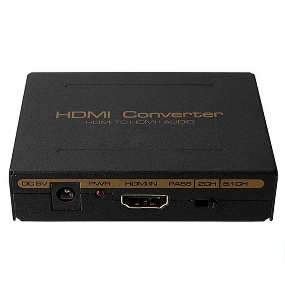 1080P HDMI to HDMI Optical SPDIF Suppport 5.1 + RCA L/R Audio Video <font><b>Extractor</b></font> Converter Splitter Adapter new arrival