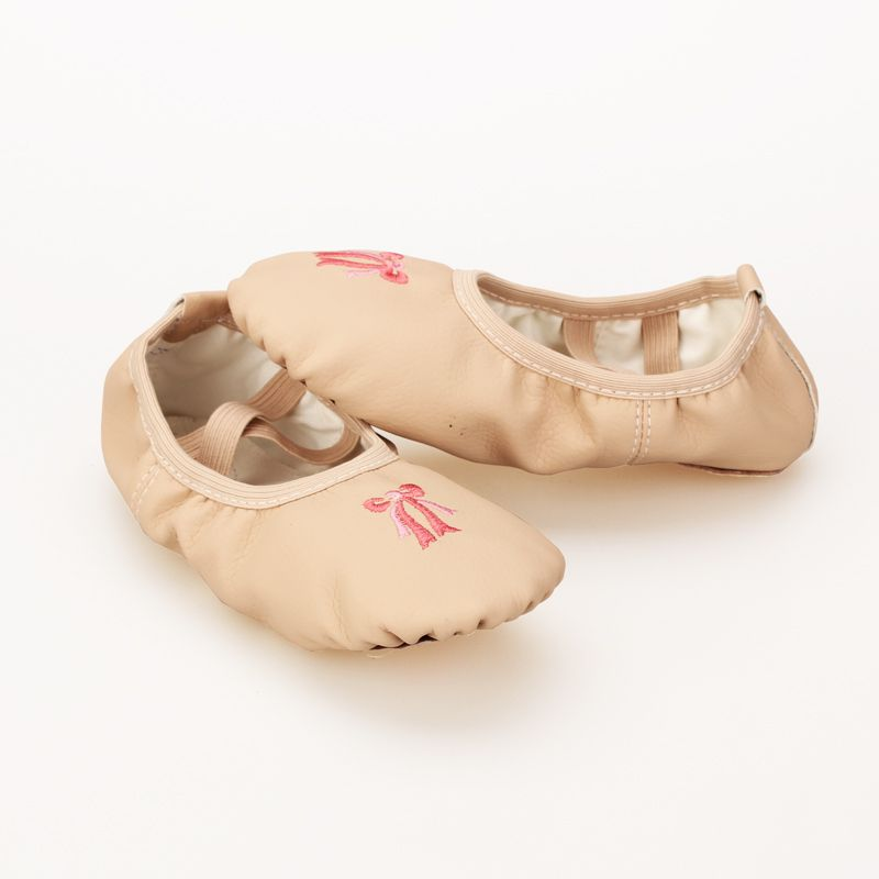 ballerina shoes for girls Pink PU upper soft cow suede outsole  ballerina shoes kids 4043