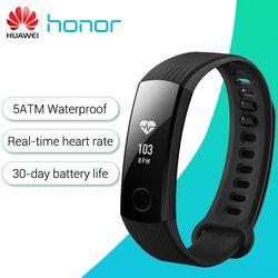 Huawei Honor Bande 3 Smart Bracelet en temps Réel Surveillance de la Fréquence Cardiaque 5ATM Étanche pour Piscine Remise En Forme Tracker pour Android iOS