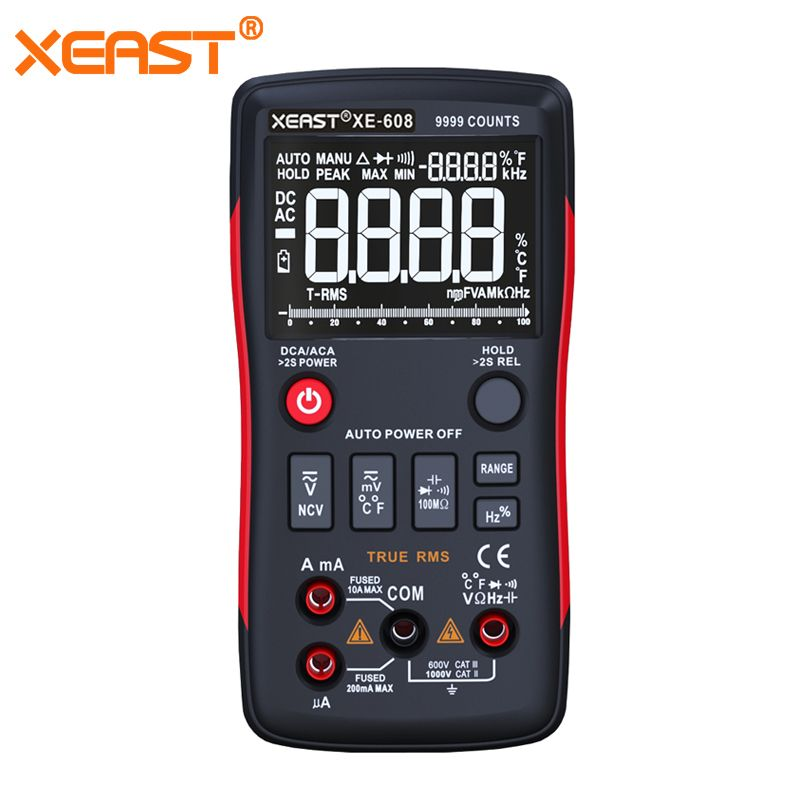 Fast Delivery from Russia XEAST XE-608 PK RICHMETERS RM409B True-RMS Digital Multimeter Button 9999 Counts With Analog Bar