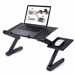 Bureau d'ordinateur portable 360 Degrés Réglable Pliant D'ordinateur Portable Notebook Bureau PC Bureau Table Stand Portable Lit Plateau