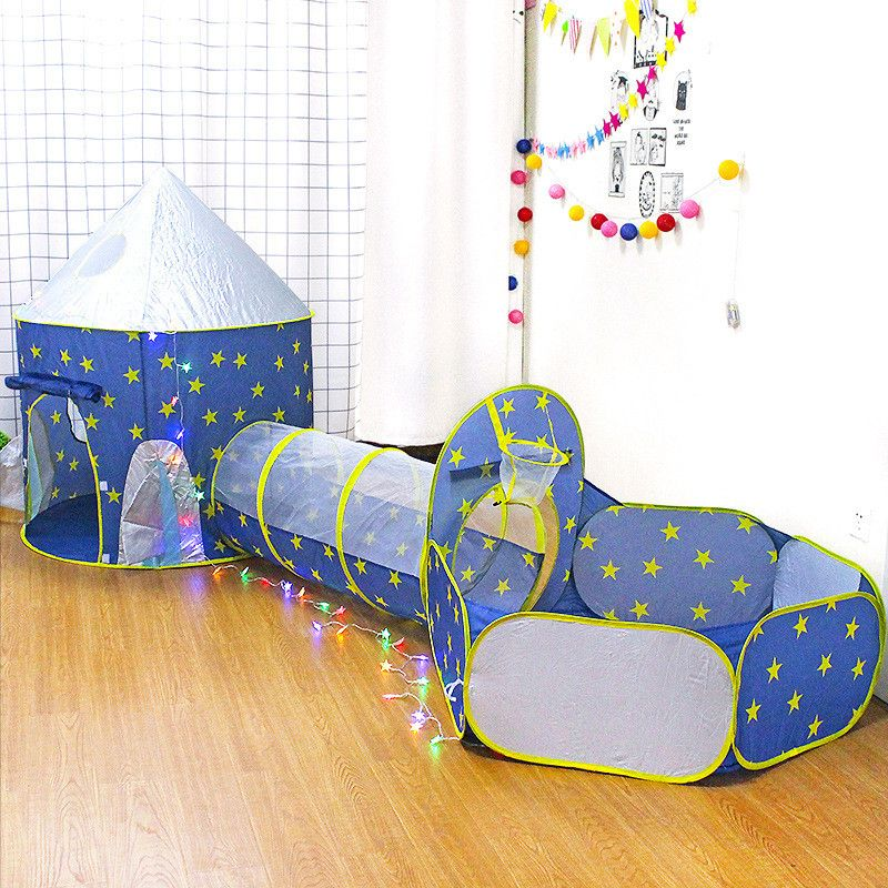 Children's 3 In 1 tent spaceship tent space yurt tent game house Rocket ship Play Tent Ball pool