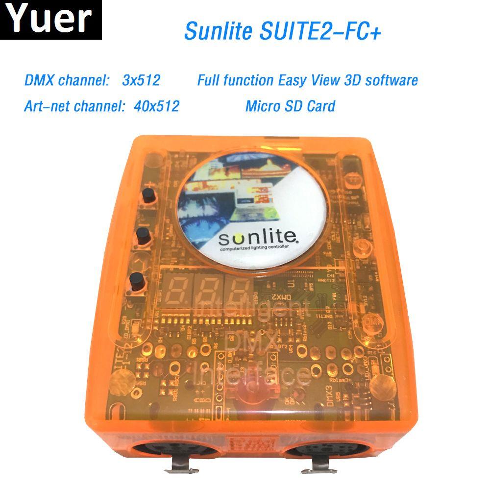Sunlite Suite2 FC+ DMX-USD Controller DMX 3X512 Channel ART-NET DJ KTV Disco Party LED Light Stage Lighting controlling software