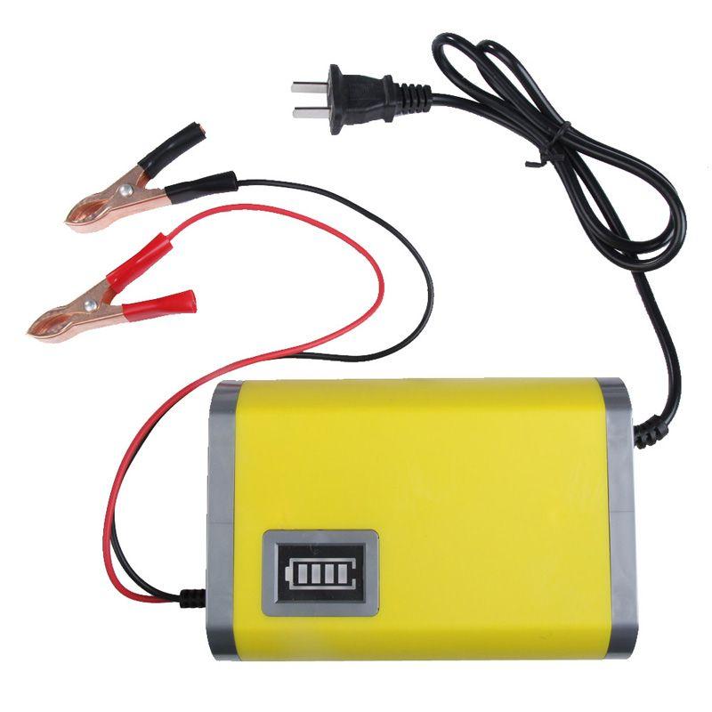 Новый Портативный адаптер Питание 12 V 6A Мотоцикл Авто Батарея Зарядное устройство США Plug умный зарядки машина оптовая продажа