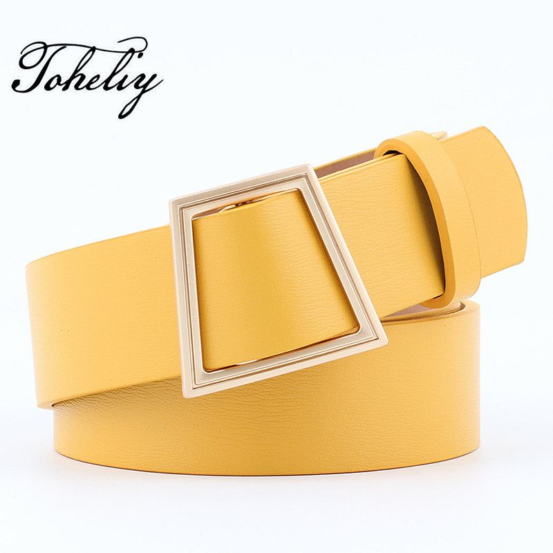 2017 wide strap Female belt PU without needle Unique Smooth buckle Men women's Belt Length 103cm