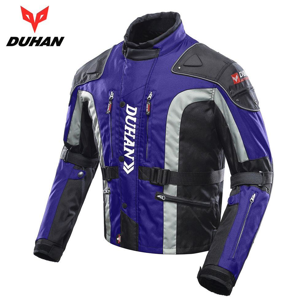 DUHAN Windproof Motorcycle Jacket Cold-proof Moto Jacket Protective Gear Armor Men's Autumn Winter Motorbike Touring Clothing