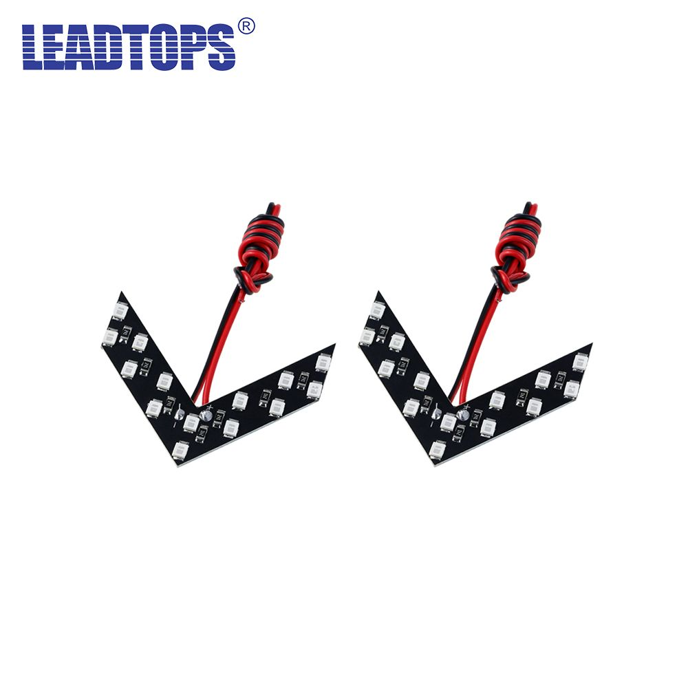 LEADTOPS 100Pcs 14 SMD LED Arrow Panel For Car Rear View Mirror Indicator Turn Signal Light For All Car Flash CJ