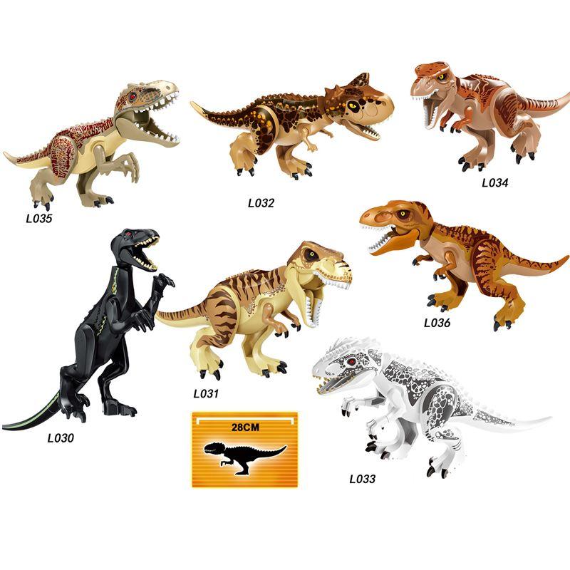 Jurassic World Brutal Raptor Building Blocks Jurrassic World 2 Dinosaur park Figures Bricks Toys For Children Compatible Legoing