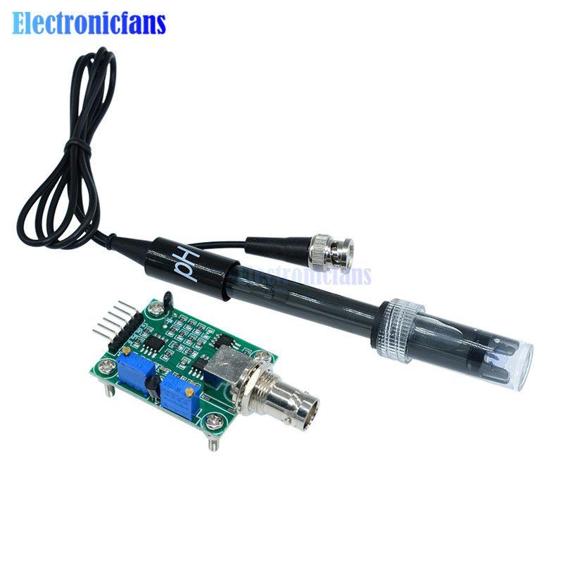 1 Set Flüssigkeit PH 0-14 Wert Erkennung Regler Sensor Modul Überwachung Steuerung Meter Tester + BNC PH Elektrode sonde Für Arduino